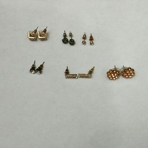 6 pairs assorted earrings (USED)